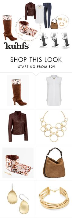 """""""Simply Chic with Kuhfs"""" by kuhfsbyamyolson ❤ liked on Polyvore featuring CAbi, Current/Elliott, Vera Bradley, UGG, Marco Bicego, BCBGMAXAZRIA and SPINELLI KILCOLLIN"""
