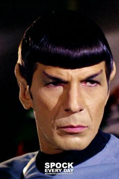 Will fill your daily Spock requirements. original Nimoy - accept no substitutes! Star Trek Data, Star Trek Crew, Star Trek Tos, Star Trek Wallpaper, Star Trek Posters, Star Trek 1966, Star Trek Original Series, Star Trek Characters, Star Trek Universe