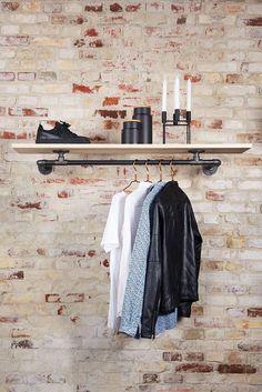 Kleiderstange Decke joey kleiderstange für montage an der decke industrial living