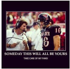 Kingsbury. Texas Tech Football...Big Time!