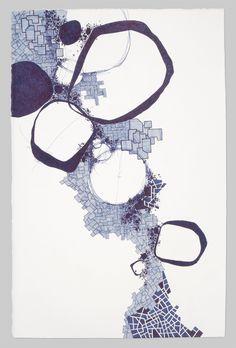 Asvirus 23 - 2011 ink on paper 20 x 13 in