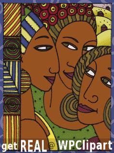 American Artist | African American women - public domain clip art image @ wpclipart.com