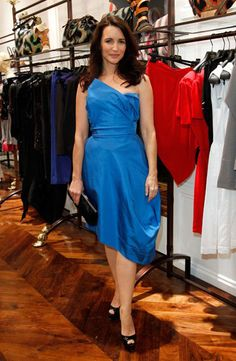 Sex and the City star, Kristen Davis, wears Vivienne Westwood Gold Label at the designer's LA store opening
