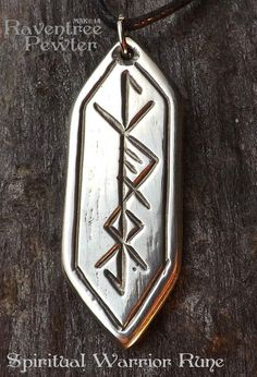 Spiritual Warrior Rune Pewter Pendant Norse by RaventreePewter Rune Tattoo, Norse Tattoo, Armor Tattoo, Viking Tattoos, Tattoo Ink, Rune Symbols, Magic Symbols, Viking Symbols, Norse Runes