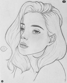 #nena Girly Drawings, Dark Art Drawings, Portrait Sketches, Art Drawings Sketches Simple, Pencil Art Drawings, Portrait Art, Art Drawings Beautiful, Beautiful Girl Sketch, Art Sketchbook