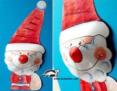 Olá amigos tudo certinho?  Imprima este Papai Noel e rena para a criançada pintar e recortar montar.  Depois de pronto você pode montar u...