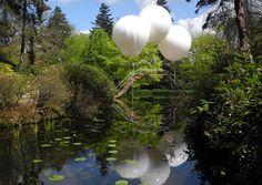 Balloon bridge, Tatton Park, Knutsford, Cheshire, UK