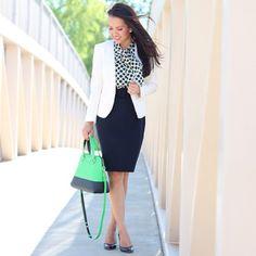 polka dot, work outfits, workwear
