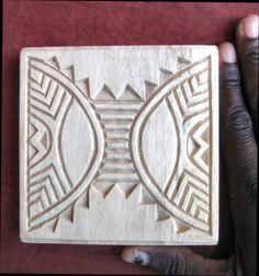 Oshiwa Designs creates hand carved textile stamps or blocks which can also be used with clay, soap and dough.