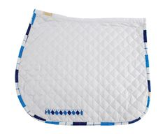 Léttia Collection Argyle A/P Baby Pad - White & Blue - 1335 - $24.99