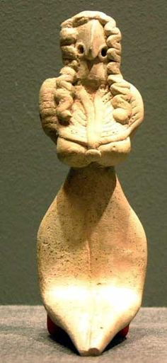 Indus Valley Civilization Terracotta Fertility Goddess. Pakistan/Western India. 3500-2500 BC. H. 11,4 cm. Harappan style