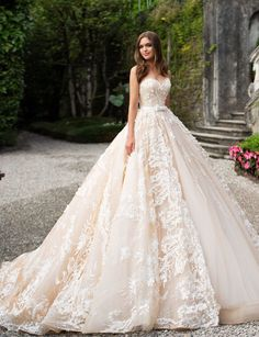 27 Fantasy Wedding Dresses From Top Europe Designers - Wedding Gowns Platform Fantasy Wedding Dresses, Best Wedding Dresses, Designer Wedding Dresses, Bridal Dresses, Wedding Gowns, Ball Gowns Fantasy, Lace Wedding Dress Ballgown, Chic Wedding, Most Expensive Wedding Dress