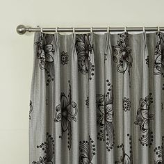 (Two Panels) Noble Country Flocking Floral Glyphs Eco-friendly Curtain – USD $ 84.99