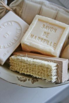 Savon de Marseille is a traditional hard soap made from vegetable oils that has been produced around Marseille What A Nice Day, French Soap, French Vanilla, Savon Soap, Vibeke Design, Purple Home, Perfume, Home Made Soap, Soap Making