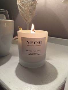 Neom organics candle - gorgeous! Organic Candles, New Product, Candle Jars, Body Care, Bath And Body, Hair Care, Lime, Gifts, Lima