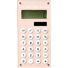 Calculator Nude (96 DKK) ❤ liked on Polyvore featuring fillers, extras, pink, accessories and electronics