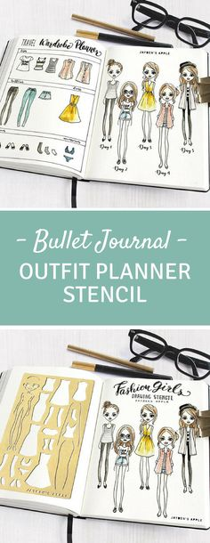Bullet Journal - Loving this outfit planner stencil! #bulletjournal #bulletjournaljunkies #bujo #outfitoftheday