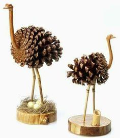 Pine Cone Art, Pine Cone Crafts, Pine Cones, Christmas Wood, Christmas Crafts For Kids, Summer Crafts, Rock Crafts, Cute Crafts, Crafts To Make And Sell