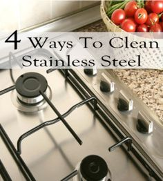 Supposedly the best and easiest ways to clean stainless steel. Household Cleaning Tips, Household Cleaners, Cleaning Hacks, Cleaning Supplies, Cleaners Homemade, Diy Cleaners, Housekeeping Tips, Tips & Tricks, Homekeeping