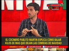 Pablito Martin con Anabela Ascar hablando sobre alimentos que desintoxican
