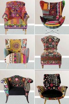 You could so use slipcovers to  makeover an existing chair, into something fun like this