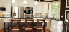 I love this kitchen remodel at Wichita Property Management!