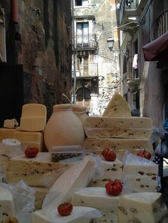 Outdoor market in Catania, Sicily