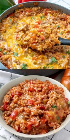 Ground Beef Recipes Discover Stuffed Pepper Casserole This Stuffed Pepper Casserole has all the delicious flavors of regular stuffed peppers but turned inside out and made in one pan keeping the mess to a minimum! Crock Pot Recipes, Soup Recipes, Crock Pots, Potato Recipes, Steak Recipes, Crock Pot Rice, Cooker Recipes, Hotdish Recipes, Stuffing Recipes