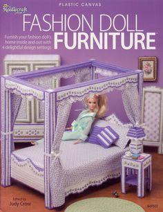 Fashion Doll Furniture Plastic Canvas Pattern  by treazureddesignz