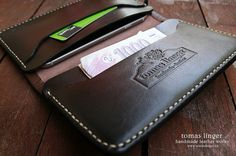 Leather wallet and case for iPhone