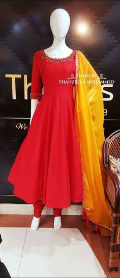 51 ideas dress long indian anarkali style is part of Anarkali dress pattern - Indian Dresses For Women, Indian Gowns Dresses, Indian Fashion Dresses, Indian Designer Outfits, Salwar Designs, Kurta Designs Women, Kurti Designs Party Wear, Long Dress Design, Stylish Dress Designs
