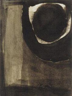 Eva Hesse, Untitled, 1961-62  Black ink and wash on paper
