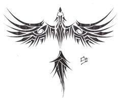 tribal phoenix tattoo – Tattoo World Tribal Phoenix Tattoo, Phoenix Bird Tattoos, Phoenix Tattoo Design, Tribal Tattoos, Black Bird Tattoo, Tattoo Bird, Viking Symbols, Bird Artwork, Tattoo Set