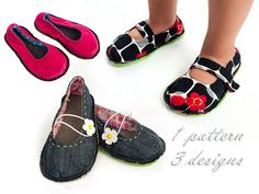 KISS Kids Shoe Sewing Pattern by TutorialGirl on Etsy