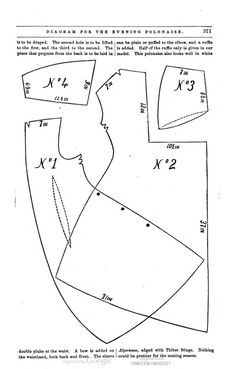 Peterson's magazine 1872  Diagram for the evening polonaise