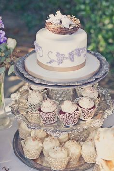 anthropologie wedding ideas - Love the silver platters stacked
