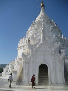 Mya thein Tan Pagoda at Mingun,Mandalay @StudentUniverse #neverhaveiever