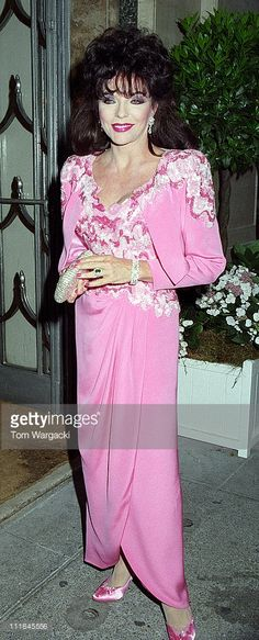 Joan Collins during Joan Collins Sighting at Claridges in London - June 1992 at Claridges in London, Great Britain.