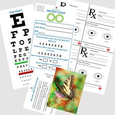 Our July monthly pretend play kit theme is Eye Doctor. Find our free eye doctor  sc 1 st  Pinterest & Pretend Doctor Eye Chart u0026 Patient Exam Check Up - Kids Doc Dramatic ...