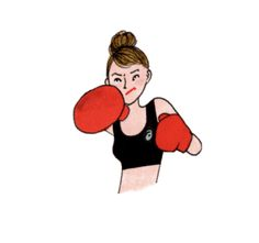 baby I know you are fighter ❤️ Gym Icon, Art Sketches, Art Drawings, My Little Paris, Happy Cartoon, Line Friends, Love Illustration, Art Pictures, Illustrations Posters