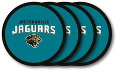 JACKSONVILLE JAGUARS 4 PACK VINYL COASTER SET FROM DUCKHOUSE SPORTS #DuckhouseSports #JacksonvilleJaguars