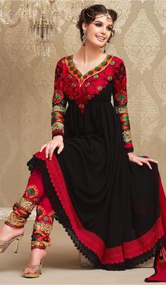 G3 fashions Black Grorgette Party Wear Designer Salwar Suit  Product Code : G3-LSA104934 Price : INR RS 5542