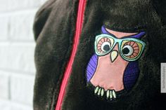Hippu. Handmade warm fleece with owl for my little girl.