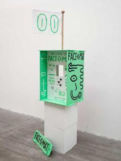 'Face-o-mat', analogue portrait machine by Tobias Gutmann