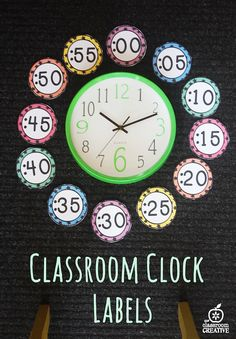 Classroom numbers for labeling your clock. We included a time activity too!