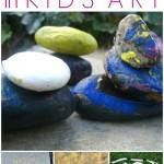 Art with Rocks :: 18 Ways to Use Rocks in Kids Art