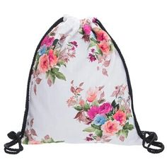 Gym shoes bag - flowers