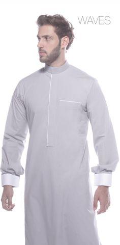 traditional saudi arabia cloth - Поиск в Google Islamic Fashion, Muslim Fashion, Men Fashion Show, Mens Fashion, M&s Shirts, Kurta Pajama Men, Kurta Style, South African Fashion, Muslim Men