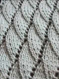 Overlapping Waves stitch is a 10 row repeat and is knitted in a multiple of 6 stitches plus 4.