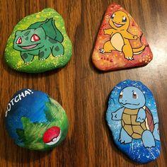 Weather Rock, Garden Crafts, Rock Art, Painted Rocks, Board Games, Pokemon, Rock Painting, Disney, Video Game